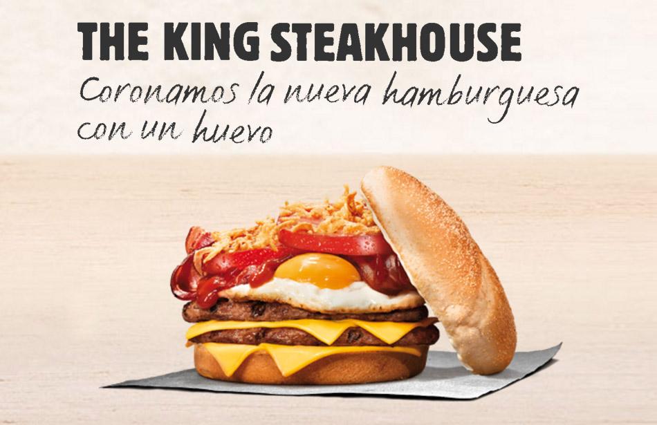 Vuelve a la cartelera The King Steackhouse con huevo