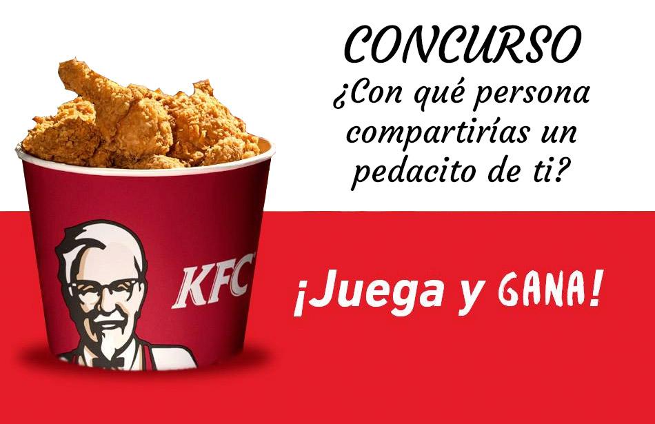 Concurso KFC: ¿Con qué persona compartirías un pedacito de ti?
