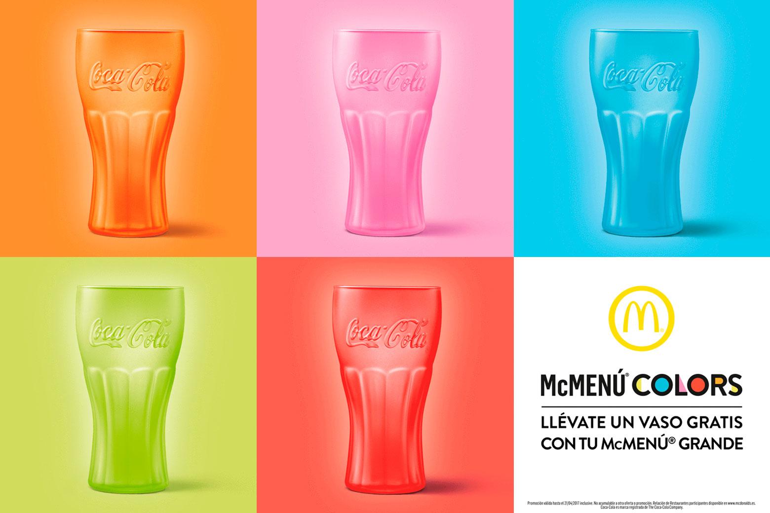 Promoción #McDChallenge: Vasos gratis de Coca-Cola